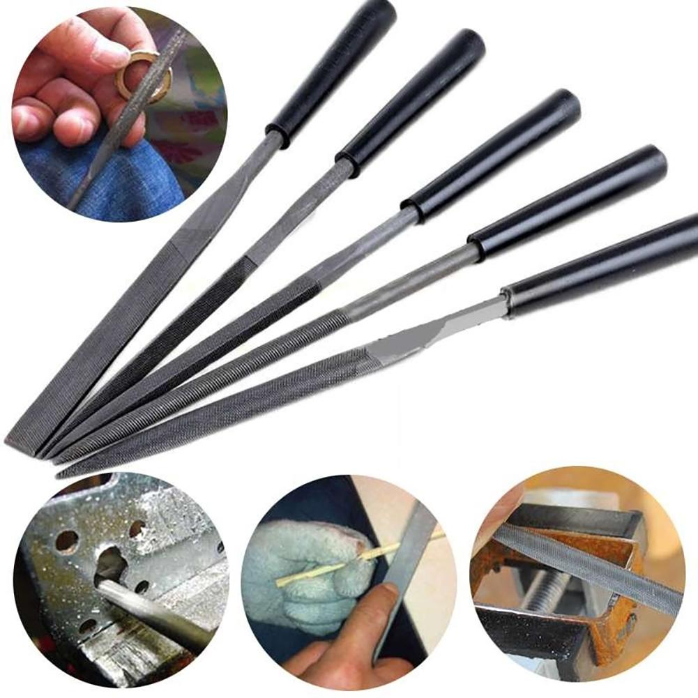 5Pcs Needle Files Set For Jewelery Metal Glass Stone Wood Carving Craft Tool Needle File Set Files For Metal Glass Stone Jewelry