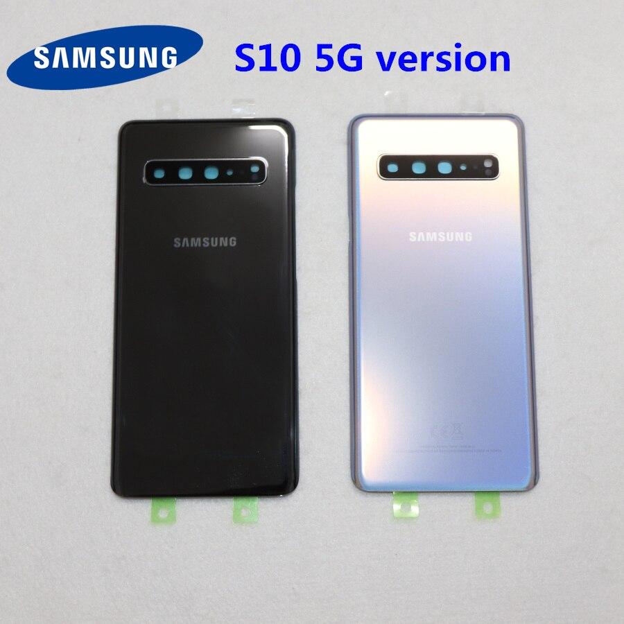 SAMSUNG S10 5G Version Original Back Glass Cover For Samsung Galaxy S10 5G G977 G977F G977U G977B Back Rear Glass Case