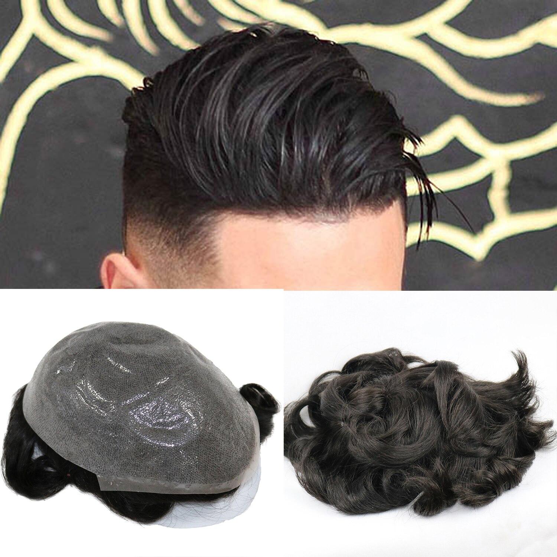 Cutestyle, мужские искусственные волосы, мужские волосы, заменяемые Мужские t волосы, система 1B65, цвет человеческие волосы, мужской парик|Парики|   | АлиЭкспресс