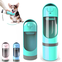 Portable Pet Dog Water Bottle Drinking Bowls Dogs Feeding Water Dispenser Pet Activated Carbon Filter Bowl Outdoor Dog Cat