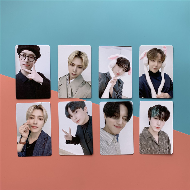 8 Pcs set font b Kpop b font ATEEZ TREASURE EPILOGUE Action To Answer K POP