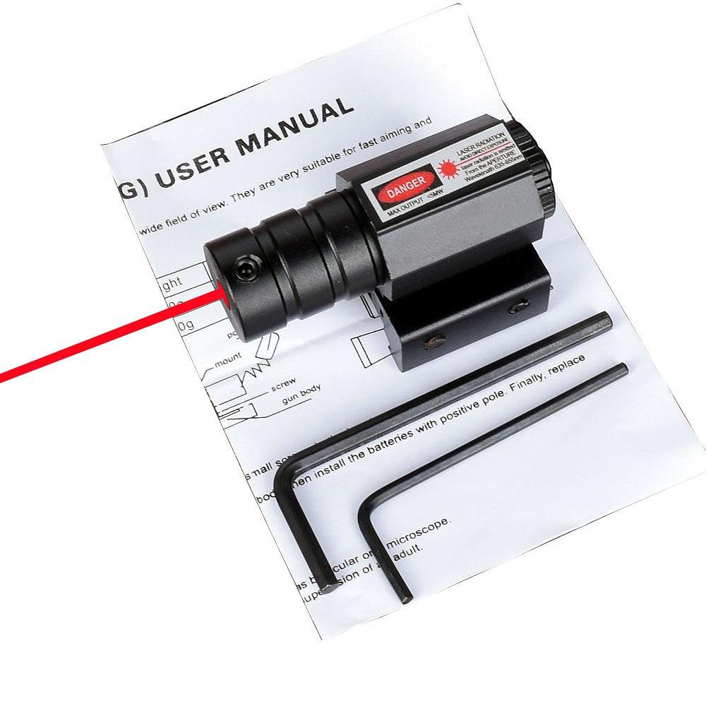 WIPSON Powerful Tactical Mini Red Dot Laser Sight Scope Weaver Picatinny Mount Set For Gun Rifle Pistol Shot Airsoft Riflescope