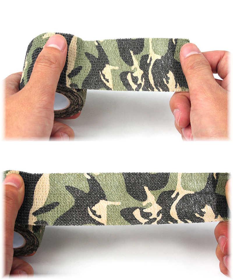 Caça camuflagem fita ao ar livre caça tiro fita 4.5m * 5cm impermeável acampamento camuflagem stealth fita envoltório