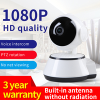 Robot Dog 1080P telecamera IP telecamera di sicurezza WiFi 5 Antenna telecamera CCTV sorveglianza IR visione notturna P2P Baby Monitor telecamera per animali domestici