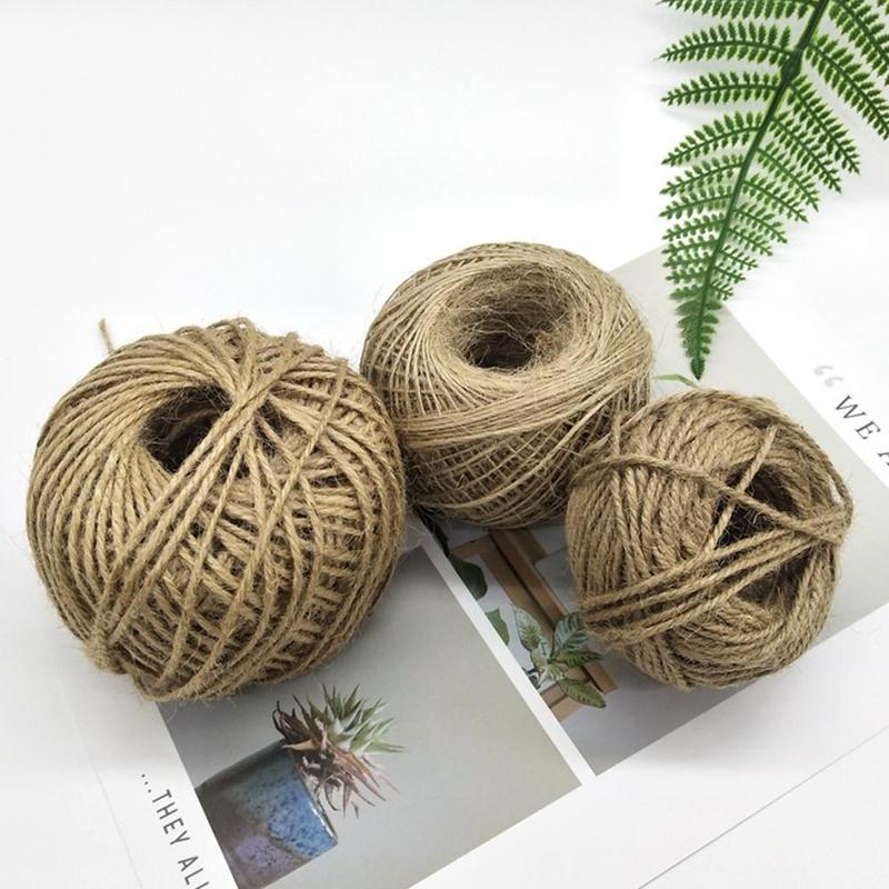 6mm x 50m SUNTQ Natural Jute Twine Macrame Best Arts Crafts Gift Twine Christmas Twine DIY Industrial Packing Materials Durable String for Gardening Applications About 55 yd