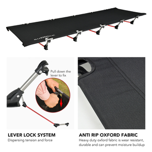Image 2 - נייד מתקפל קמפינג מיטת האדם חיצוני מתקפל מיטת 330LB נושאות משקל קומפקטי עבור חיצוני פיקניק קמפינג