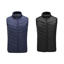 Outdoor Men Electric Heated Vest USB Heating Sleeveless Winter Thermal Coat
