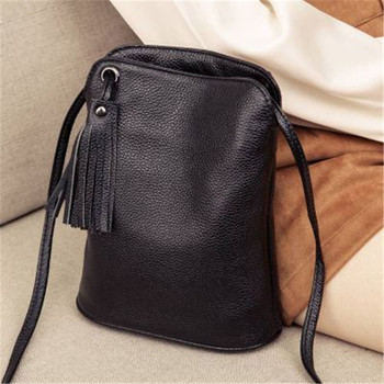 New Cross Body Cell Phone Purses Vintage Bag Women Small Shoulder Genuine Leather Softness Mini for Woman Messenger Bags - discount item  37% OFF Women's Handbags