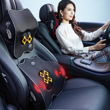 Multifunction Heated Massage Seat Intelligent Control Cushion Car Massager Soft Pad Back Lower Pain