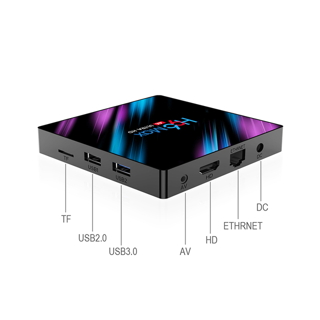 Set Top TV Box 4G DDR3 USB 3.0 Bluetooth 4.0 Android 9.0 9 OS 4K 4096x2160 H96 Smart Penta-Core Mali-450 RK3318 GPU 2.4G/5G 3