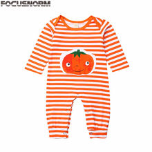 2019 Baby Autumn Clothing Newborn Kids Boys Girls Pumpkin Halloween Romper Jumpsuit Long Sleeve Stripes Playsuit Clothes 0-18M(China)