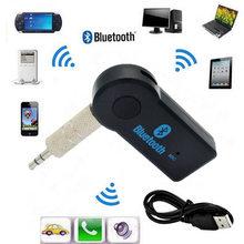 Receptor de Audio y música 2 en 1, Bluetooth 5,0, transmisión automática de 3,5mm, A2DP, adaptador AUX, conector, micrófono, manos libres, PC para coche