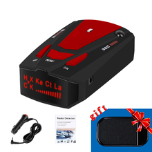 V7 Car Radar Detector English Russian Auto 360 Degree Vehicle Speed Voice Alert Alarm Warning LED Display Speed Control Detector dual way vehicle sensors loop detector with double channels vehicle inductive loop detector