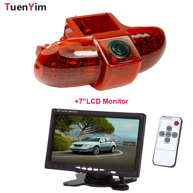 Brake Light Rear View Camera For Renault Trafic(2001-2014)/Combo(2001-2011)/Vauxhall Vivaro(2001-2014) With 7Inch LCD Monitor