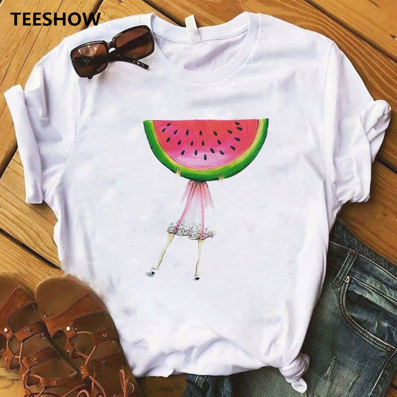 Pineapple Fruits Clothing T-shirt Fashion Female Tee Top Graphic T Shirt Women Kawaiic Short Sleeve Casual Clothes