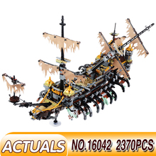 цены LegoESS Technic Pirates of the Caribbean Ship Series Model Building Kit Blocks Bricks Kids Toys Compatible with 10241 10210 Gift