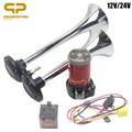 Автомобильный воздушный компрессор 12 В для Toyota  для автомобиля  грузовика  рожок  электрический  с 2 трубами  Zine  свисток  труба  двойной  супе...