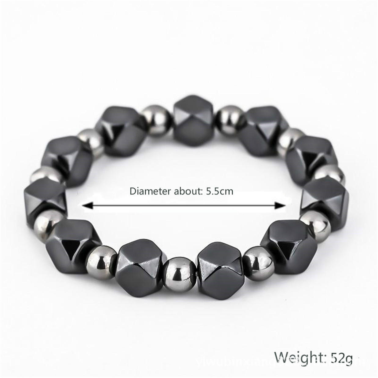 Adjustable Weight Loss Round Black Stone Magnetic Therapy Bracelet Health Care Luxury Slimming Product Magnetic Anion Bracelet