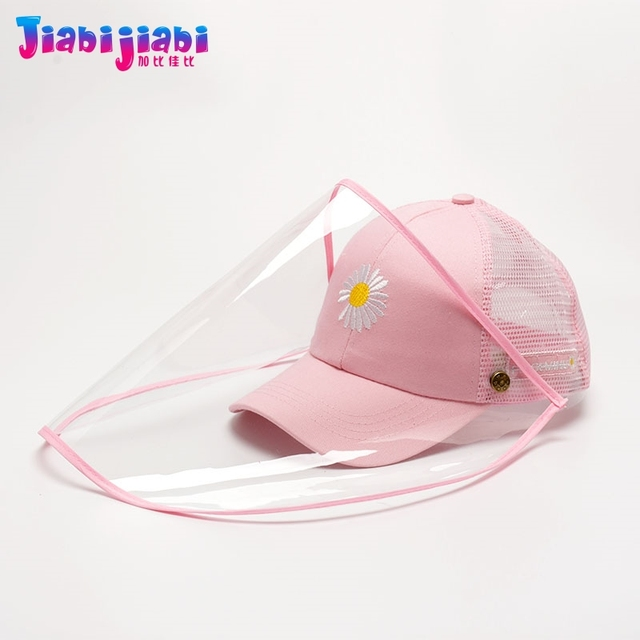 Summer Kids Hat Mask For Anti Virus Face Shield Anti Spitting Protective Facial woman female Boys Girls Sun Visor Hat 3-12 Old 1