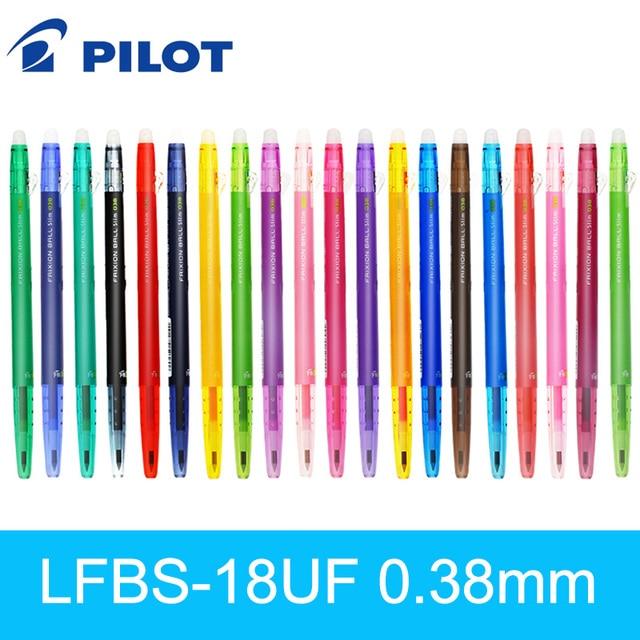 Japan Pilot FRIXION Pen slim Erasable Gel Pen Ball Point 0.38 mm Japan LFBS-18UF 20 Color Available