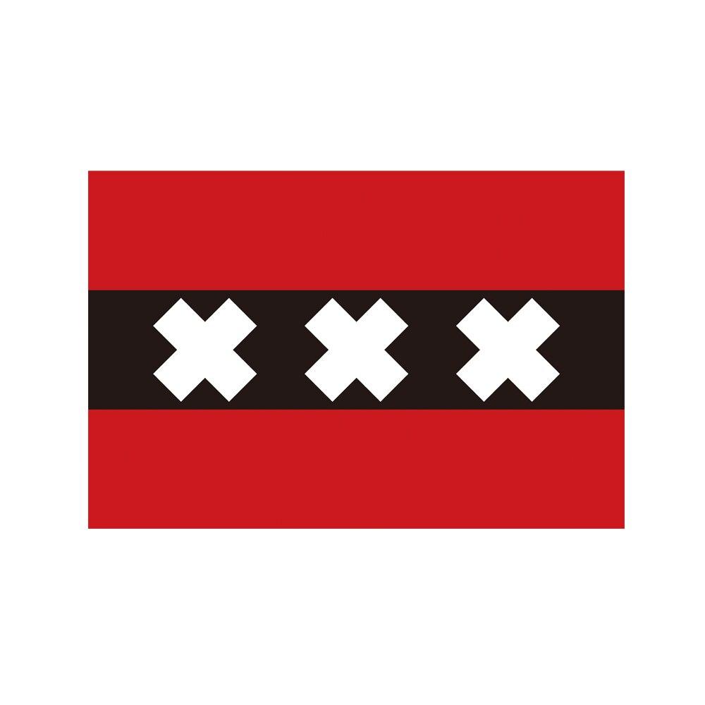 Holland the Netherlands Amsterdam City Flag 150* 90cm 3ft x 5ft Custom Banner Metal Holes Grommets