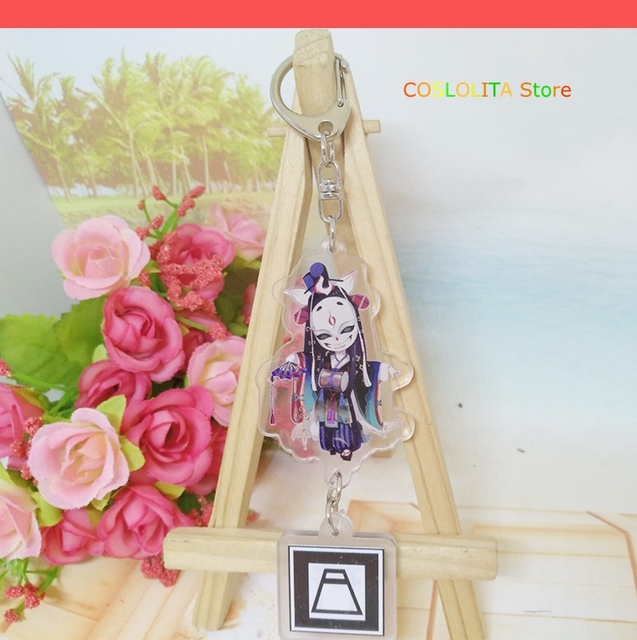 Anime Onmyoji Tamamo no Mae ibaraki-douji Ootengu Cosplay acrylique mignon porte-clés dessin animé porte-clés pendentif cadeaux de noël