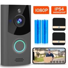 1080P WiFi Video Doorbell Camera IP54 Waterproof Audio Intercom With Chime Security Outdoor Door Bell Smart Wireless Home Camera
