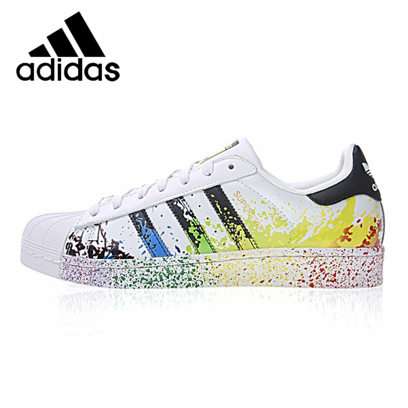 Original Authentic Adidas 917 Clover Series Sneakers Women Superstar Men Fashion Colorful Shell Head Skateboarding Shoes D70351 image