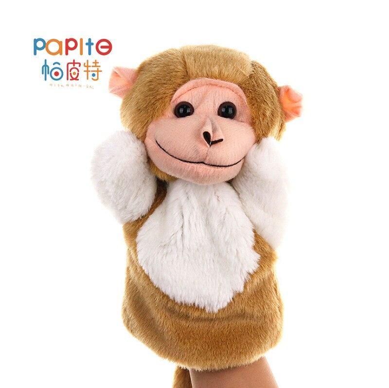 Plush-Toy Hand-Doll Animal-Shape-Set Storytelling-Prop Monkey Kindergarten
