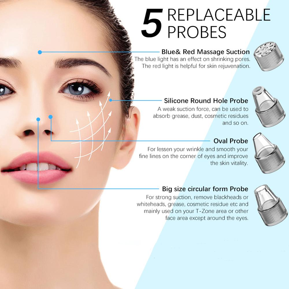 ANLAN Blackhead Remover Face Clean Pore Vacuum Acne Pimple Removal Vacuum Suction Facial Dermabrasion Tool Machine Skin Care