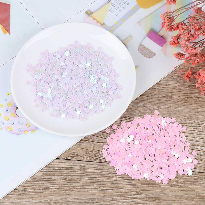 Ultra Tipis Cherry Blossom Irisan Pengisi Warna-warni Bunga Sakura Glitter Resin Perlengkapan Nail Art Decoden Lendir DIY Slime