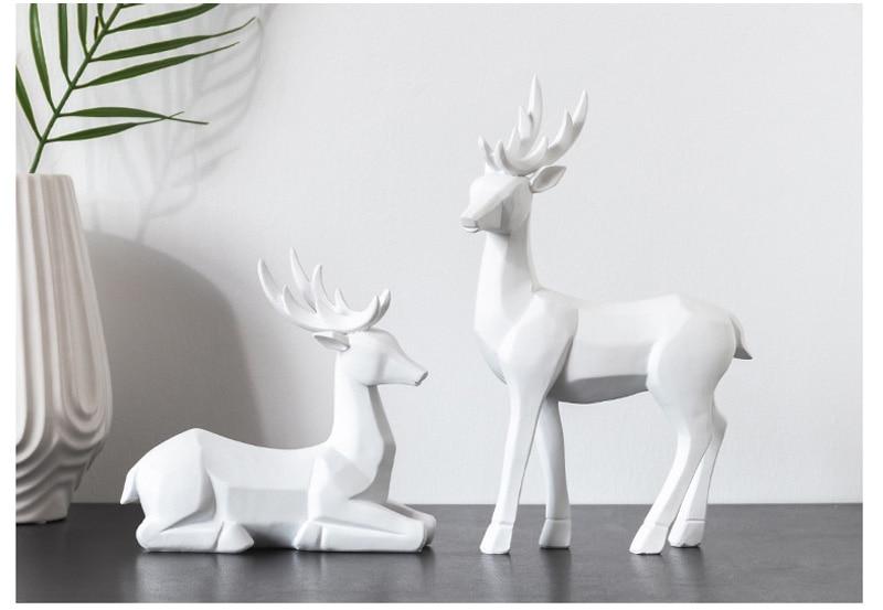 animais sorte cervos casais modelo em miniatura