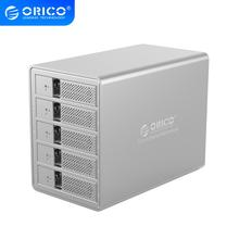 ORICO USB3.0 5 bay 3.5 inch SATA to USB 3.0 Hard Drive Docking Station 80TB With 150W Internal Power Aluminum HDD Case Tool Free