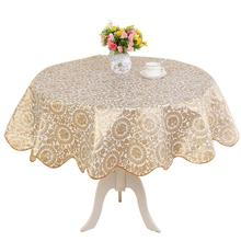 Flower Printing Round Table Cloth Waterproof Oilproof Anti-slip Flannel Tablecloth Cover Decoration For Home Restaurant