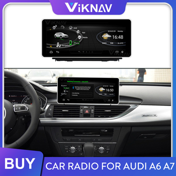 Android auto radio player for Audi A6 A7 2012 2013 2014 2015 2016 2017 2018 car multimedia player GPS navigation tape recorder image