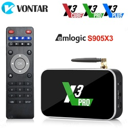Ugoos X3 PRO TV Box Android 9.0 4GB RAM 32GB X3 Plus 64GB DDR4 Amlogic S905X3 2.4G/5G WiFi 1000M 4K X3 Cube 2GB 16GB Set Top Box
