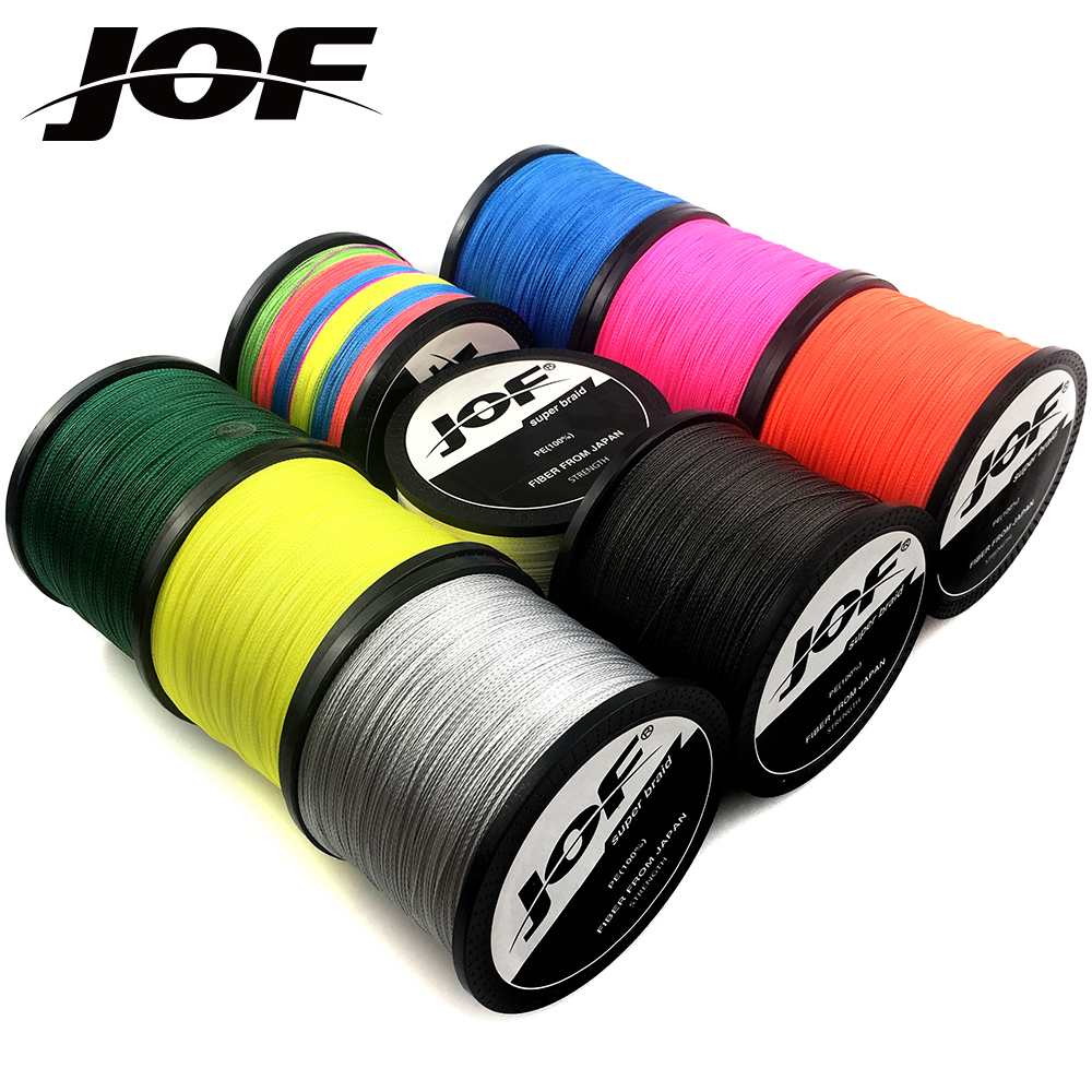 JOF Braided Fishing line 1000M 500M 300M 4 Strands Carp Fishing Multifilament Line Saltwater 4 Braid