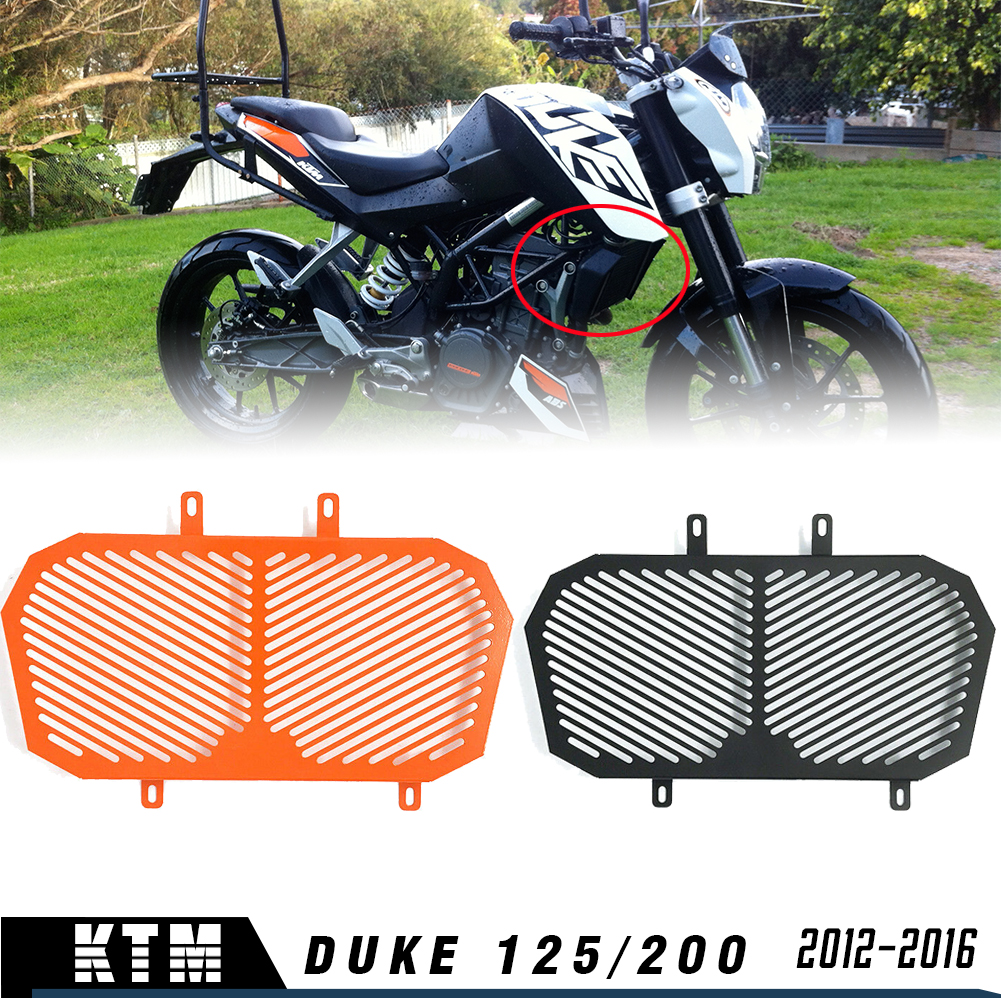 Duke 125 Duke 200 Radiator Grille Grill Guard Protective Cover Grill for KTM Duke 125 200 2012 2013 2014 2015 Accessories image