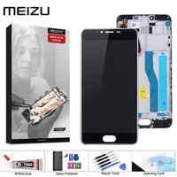Display originale Per MEIZU M5 Display Touch Screen Digitizer con Telaio M611H Modulo Display Per MEIZU M5 LCD di Ricambio