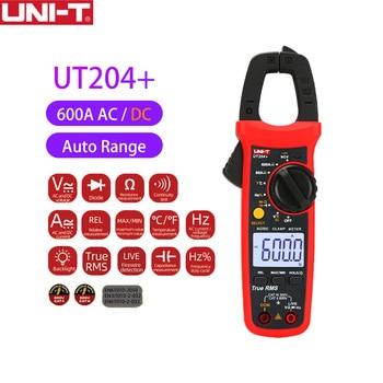 UNI-T Digital Clamp Meter NCV Auto Range True RMS MAX/MIN AC DC Current Voltage Capacitance Resistance Tester UT204+ Series