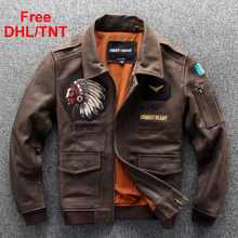 Mens Genuine Leather Jackets Cow Leather Coat Fashion Indian Motorcycle Biker Ou