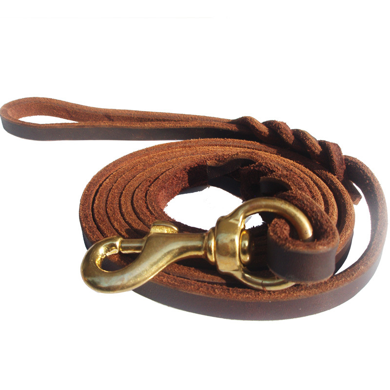 2 M German Shepherd Hand Holding Rope Widened Hand Holding Rope Dog Chain Small Wholesale Genuine Leather Hand Holding Rope Oil