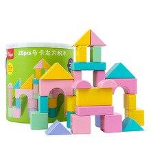 Toy Building-Blocks Construction-Building Early-Education Color Ce Wood Cognitive Benefit
