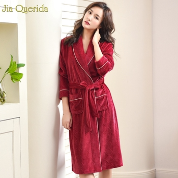 Wedding Roebs for Bridesmaids and Bride Red Plus Size Veins Flannel Super Soft Christmas Red Lingerie Robe Women Kimono Robe New