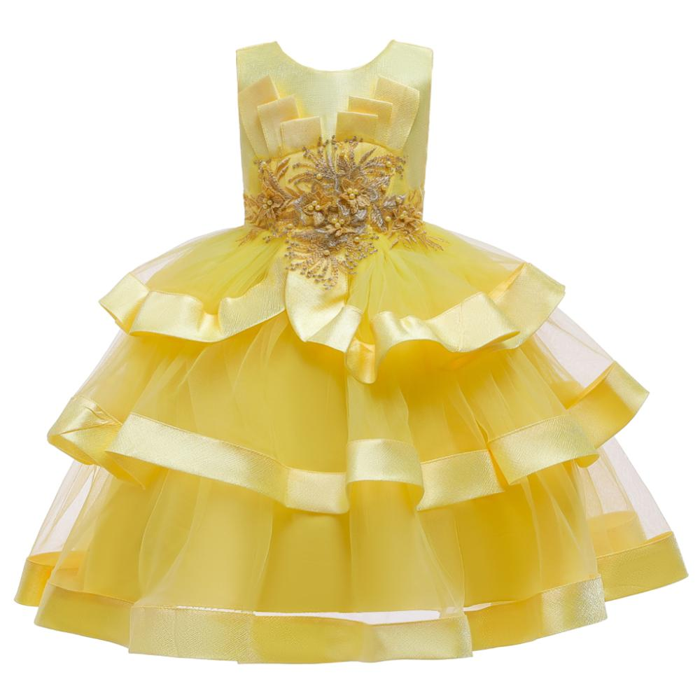 Girls Dress Elegant New Year Princess Children Party Dress Wedding Gown Kids Dresses for Girls Birthday Party Dress Vestido Wear 2