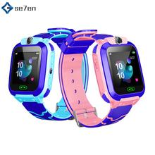 Q12B Childrens Smart Watch Phone Waterproof LBS Positioning Call 2G Sim Card Smartwatch Remote GPS Locator Kids Watches
