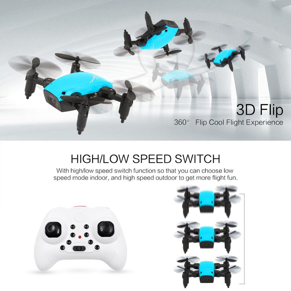 cheapest S9 S9W Foldable RC Mini Drone Pocket Drone Micro Drone RC Helicopter With HD Camera Altitude Hold Wifi FPV FSWB Pocket Drone