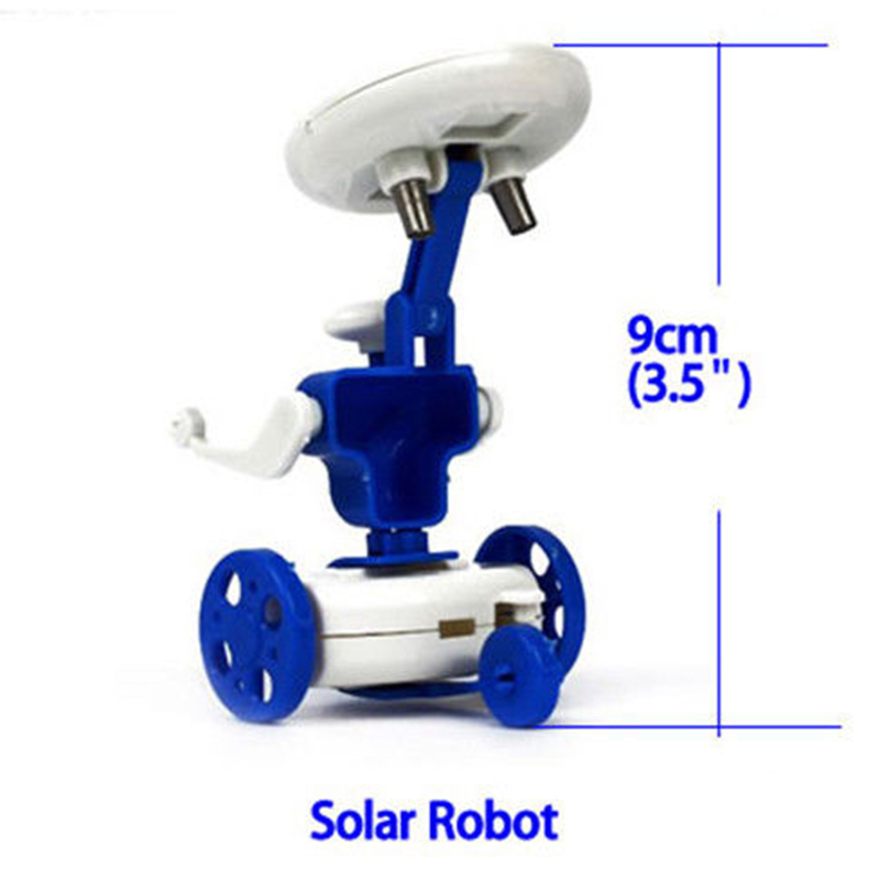 6 In 1 Solar Robots Educational Toys DIY Solar Power Robots Learning Toy Easy To Assemble High Quality
