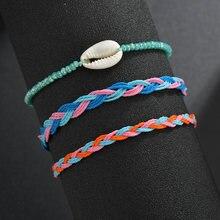 Женский Регулируемый браслет ручной работы из натуральной ракушки