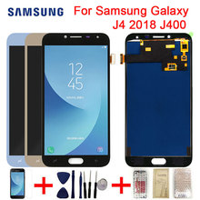 A CRISTALLI LIQUIDI Per Samsung Galaxy J4 2018 J400F J400 J400G/DS SM J400F Display LCD di Tocco Digitale Dello Schermo J4 2018 Dello Schermo parti di montaggio
